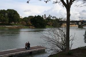 Cristobal Amo un embarcadero en el Rio Guadalquivir en Sevilla