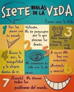 siete reglas de la vida